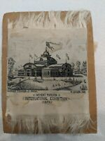 1876 Woven Silk Philadelphia International Exposition RARE Women's Building