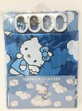 Sanrio Hello Kitty Blue Angel Shower Curtain ~ 1999