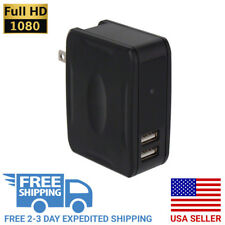 1080P HD Motion Activated USB Wall Charger Outlet Night Vision Hidden Spy Camera