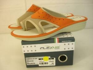 NIB Womens 9 sz 40 FlexUs by Spring Step Pascalle Orange Italian Leather Sandals
