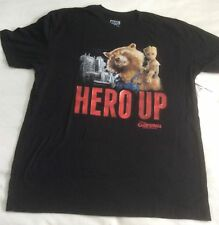Guardians of the Galaxy: Mission Breakout Opening Hero Up Black T-Shirt Size XL