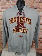 Easton Minnesota Golden Gophers NCAA Hockey Hooded Sweatshirt Mens Size Small
