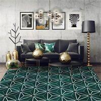 Luxury Dark Green Rug Geometric Nordic Geometric Carpet Rug Mat Antislip Carpet