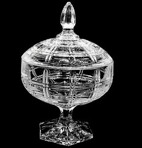 LARGE Decorative forted Glass Candy Jar Sweet Container With Lid Bonbon Nuts