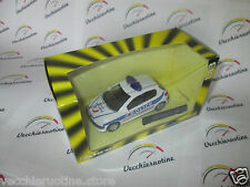 CARARAMA PEUGEOT 206 mk1 POLICE 5 porte doors metal 1/43 model car boxed ABREX