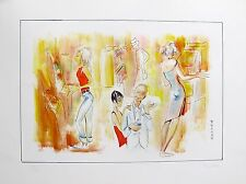 "PIROSKA KEVESI ""SLOT MACHINES"" Hand Signed Lithograph MONTE CARLO CASINO Series"