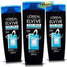 3x Loreal L'oreal Elvive Para Hombres Anti Caspa Nourishing Shampoo 400 Ml