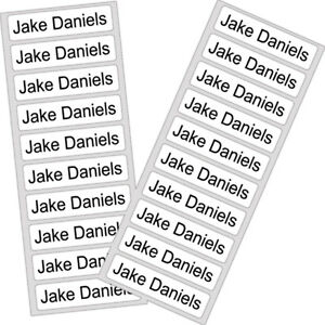 50 Iron On School Name Labels Tags Printed Waterproof Tapes uniform personalised