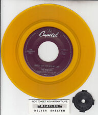 """BEATLES  Got To Get You Into My Life & Helter Skelter 7"""" YELLOW VINYL RECORD NEW"""