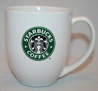 Starbucks Coffee Mug SIREN MERMAID LOGO 14 oz Tea Cup White Green Black 2010