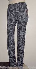 "MISS ME SIZE 28 X 32 CHARCOAL GRAY AND BLACK FLORAL PRINT ""SIMPLE"" SKINNY JEANS"