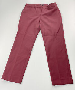 WHBM White House Black Market The Slim Ankle Pant Size 8 Maroon NEW