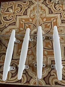 Vintage Door Cupboard Push Pull Handles Off White Bakelite X 4
