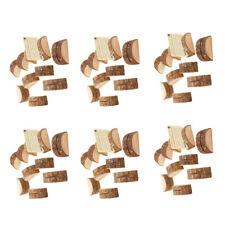 80x rustikale Holz Ort Foto Name Kartenhalter Stand Hochzeit Tischdekoration