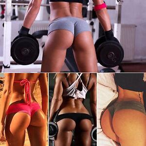Sexy Lady Summer Gym Fitness Workout Shorts Butt Lift Push Up Sports Hot Pants