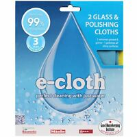 2 x e-Cloth Glass & Polishing Cloth - Home Micro Fibre Window Cleaning & Drying