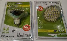 BOMBILLA MR16 230V 60 LED SMD 4,4W LUZ Calida 2700k 60º, Dicroica 50mm
