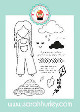 Sarah Hurley Doodle Doll Outdoor Girl Stamp Set
