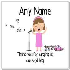 Thank You For Singing At Our Wedding Female Personalised Coaster