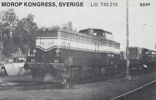 AK UNREAD Morop Congress Sweden litt. T43 215 Baden Model järnvägs (G2574)