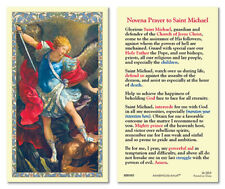 25 Laminated Holy Cards Saint Michael the Archangel Novena