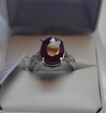 5.50ct. NATURAL GENUINE AFRICAN  RUBY & NATURAL SAPPHIRE STERLING SILVER  RING