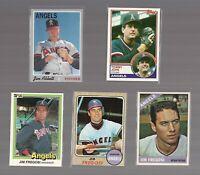 California Angels vtg Baseball Star Card Lot Tommy JOHN Jim ABBOTT 1960s FREGOSI