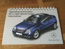 MERCEDES C CLASS SPORTS COUPE 2002 print ring binder booklet Nice !