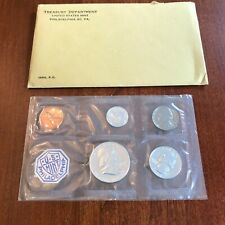 1963-P Us Mint Silver Proof Set in original govt packaging. 5 coins