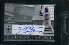 2002 Sammy Sosa Ultimate Collection Signed Excellence Autograph (09/54)