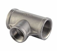 "TEE 150# 304 STAINLESS STEEL 1-1/2"" NPT FITTING BREWING PIPE FITTING"