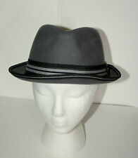 Original Penguin Fedora Gray Cap Hat New Tags Size LG/XL 100% Wool $54 Value