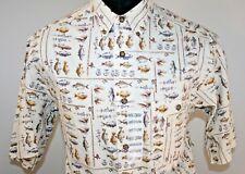 Woolrich Mens Short Sleeve Fish Button Front Shirt Size M Medium