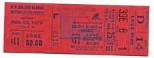 WHA Golden Blades vs. Quebec Nordiques Nov. 25, 1973 Full Unused Ticket 39E B 1