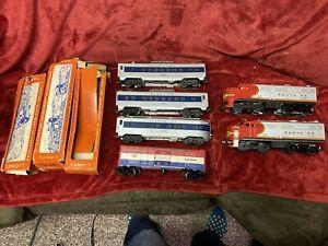 1960 Vintage Lionel Passenger Set  #1640W SF AA 218's 3428 Two 2412 Vistas 2416