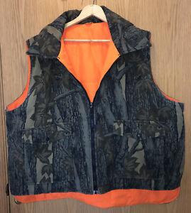Winchester Reversible Insulated Hunting Vest Trebark Camo to Orange Men's sz XXL