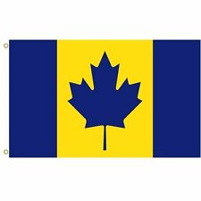 Canada recolour The maize and blue Michigan Wolverines colored Flag  3x5Feet