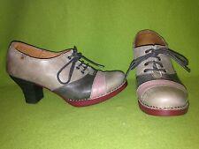 Grey & Peach The Art Company Lace-Up Heels 7.5 38