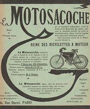 Y9688 MOTOSACOCHE - Pubblicità d'epoca - 1909 Old advertising