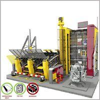 LEGO MOC Airport Fire Station - CUSTOM Model - PDF Instructions Manual