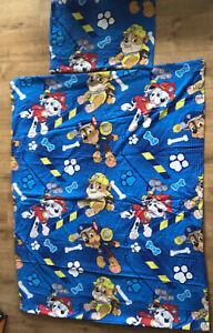 Paw Patrol Blue Single Duvet Bedding Set Kids  Used Duvet Cover & Pillowcase