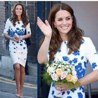 Sold Out New LK Bennett Dr LARA / LASA Blue Poppy Dress UK 8 10 12 14 16
