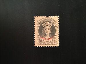 """JPS_Stamps! - Nova Scotia #13p... """"Forgery Specimen"""" (vf/hinged)"""