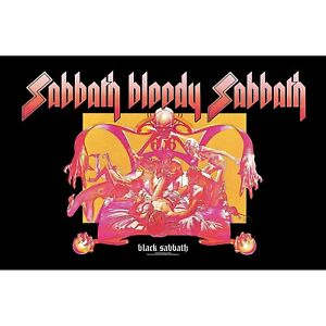 Black Sabbath .. Bloody Sabbath large fabric poster / flag 1100mm x 700mm (rz)