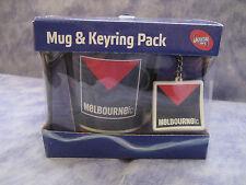 AFL MELBOURNE DEMONS MUG & KEYRING PACK - In Original Giftbox - NEW!