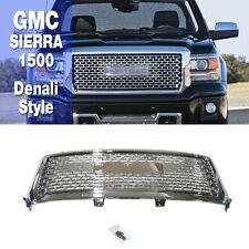 Chrome Denali Style Mesh Upper Front Bumper Grille For GMC 2014-2015 Sierra 1500
