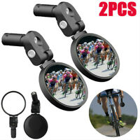 360° Adjustable Bar End Bike Mirror Safe Rearview Mirror w/ Stainless Steel Lens