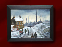 P J NORMAN ORIGINAL OIL PAINTING BY *NORTHERN ART* ON THE WAY TO THE COAL PITS