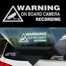 'Warning On Board Camera Recording' Sticker Vinyl Decal Car Truck Window Decor