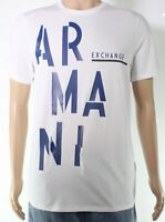 Armani Exchange Mens T-Shirt Classic White Size 2XL Graphic Logo Tee $50- 092